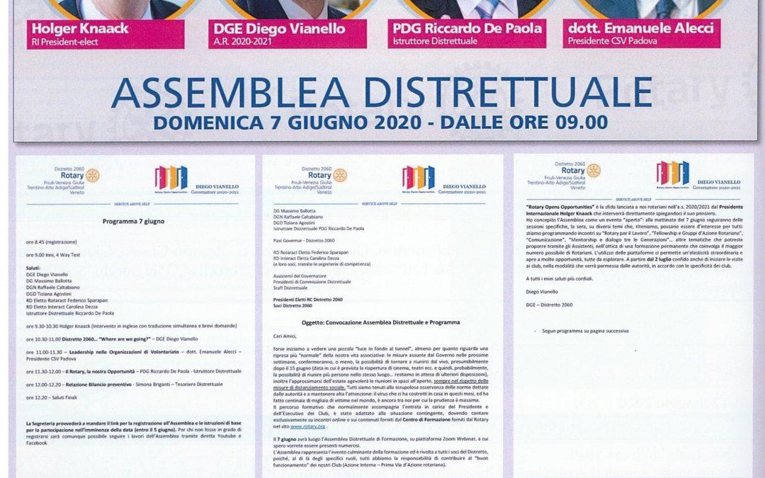 Protetto: ASSEMBLEA DISTRETTUALE  7 giugno 2020