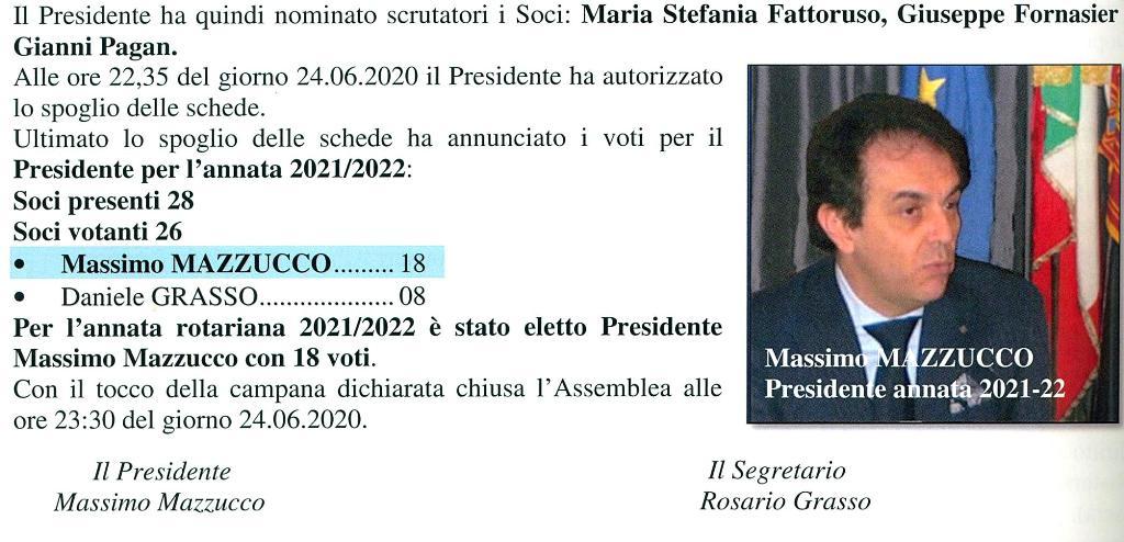 Protetto: Assemblea Straordinaria. Elezione Presidente annata 2021-2022.  23 giugno 2020